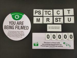 Tactile Door Number Camera Stickers THS